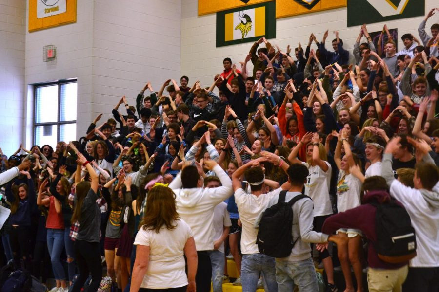 the freshmen win the competition of being the loudest