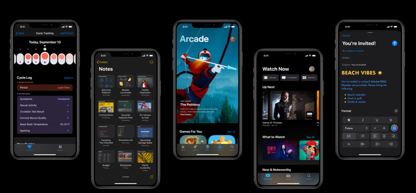 Some many features on the new update shown from Apple.com